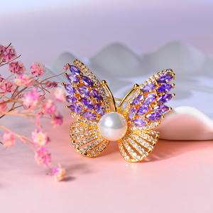 Butterfly jewelry custom enamel pin butterfly brooch diamond brooch pin for gift