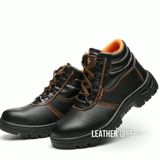 Hot Dijual Pria Topi Baja Kaki Konstruksi Kulit Safety Pergelangan Kaki Bekerja Sepatu