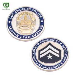 Professional customized service challenge coin with full printed logo 3d effect