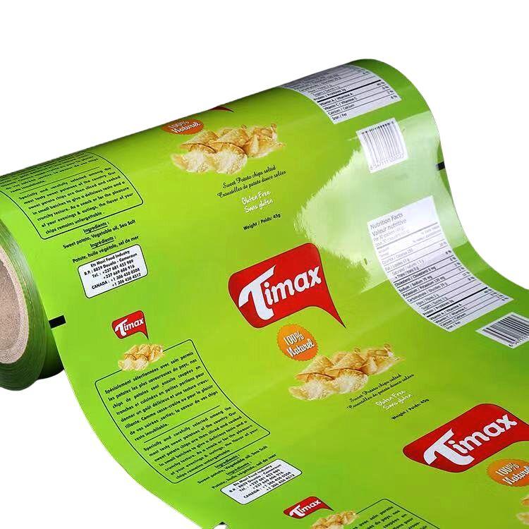 Напечатанная на заказ упаковка алюминиевой фольги для ламинирования упаковочная пленка рулон
