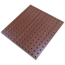 FIRE-rated ไม้ Perforated แผงอะคูสติก Perforated อะคูสติกแผงโช้คอัพ wood Acoustic Sound reflector
