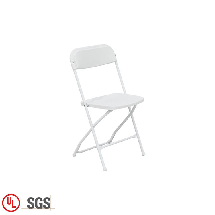 Blanco barato de plástico de polipropileno plegable de jardín silla plegable