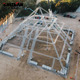 Pyramid roof truss with pipe roof truss structure and projector truss stand