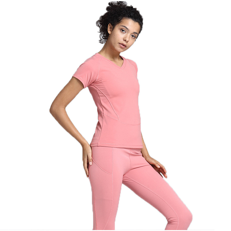 Custom Keringat Pelatihan Memakai Set Gym Ketat Kosong 2 Piece Suit Jogging Set untuk Wanita