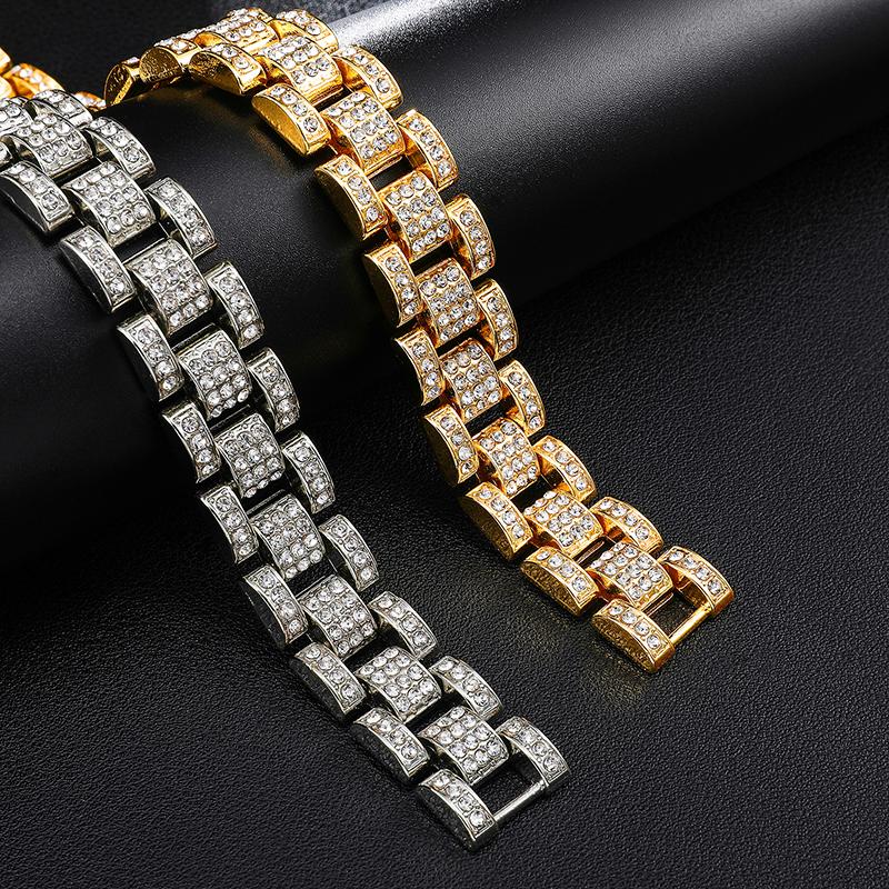 Nouvelle Arrivée 15mm Miami Cubain Lien bracelets Pour Hommes Bijoux De Mode
