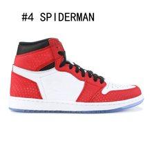 1s баскетбольные кроссовки с высоким берцем для спортзала, красный человек-паук, UNC, турбо, зеленый цвет, фиолетовый цвет, забанены, NYC, в Париж,...(Китай)