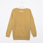 New design fancy women winter imitated mink cashmere lady sweater knit