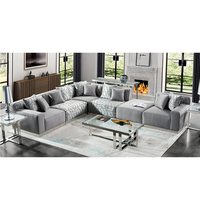 wholesale factory modern cheap style home Furniture couch fabric l-shape sofa
