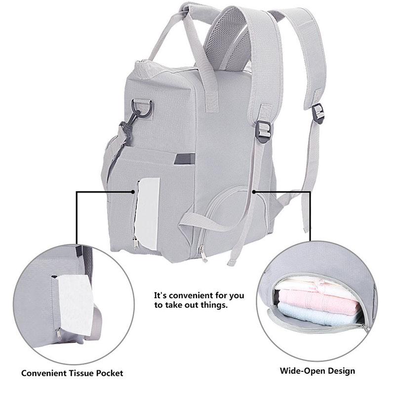 Osgoodway Low MOQ 2020 Stylish Large Capacity Diaper Bag Backpack for Mum