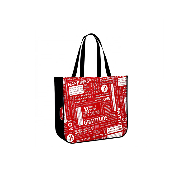 Promotion round corner non-woven recyclable pp laminated non woven shopping bag
