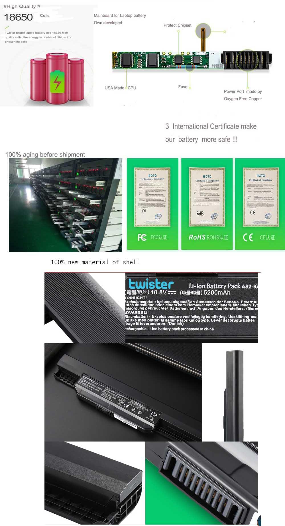 10.8V 4400mAh/48Wh Laptop battery for Acer 4250 5250 4741 AS10D31 AS10D41 4741-4-3S2P