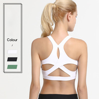 Four Needles Six Lines Cross-Back Anti-Shock Moisture Absorptinound Sweat Releasay Sports Bra