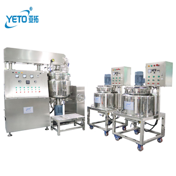 YETO factory price 200L hydraulic lifting Vacuum Emulsifying mixer machine lotion mixing homogenous emulsifier