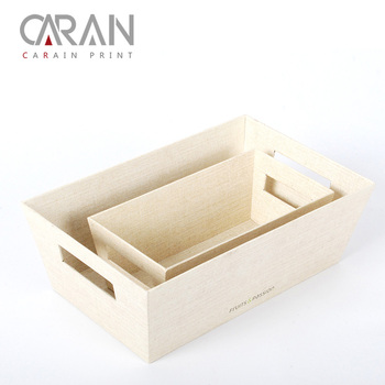Wood paper board eco-friendly environmental office custom printing storage white box