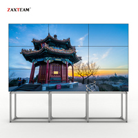 55inch LCD Video Wall Screens 8mm Bezel 3840x2160 Wooden Video Wall Packages