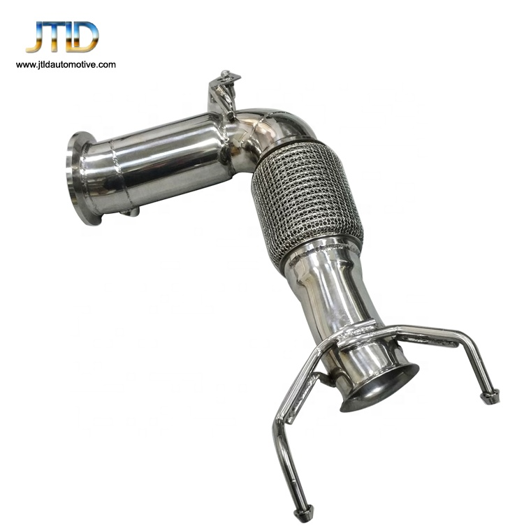 High quality  stainless steel exhaust downpipe for 2014+ MINI COOPER S MK3 F56 2.0T catless