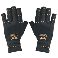 Arthritis Gloves Copper hands/ Copper Hands Fingerless Compression Gloves by BulbHead