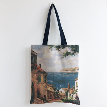 Eco Grocery Luxury Custom Women Shopping Lady Cotton Canvas Tote Bag