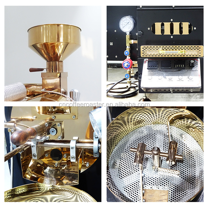 Big promotion 2kg coffee roaster /electric&gas coffee bean roaster machine for coffee shop with Bluetooth&USB