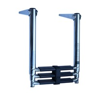Factory price boat accessories 2 step 304 stainless steel over platform ladder for boat