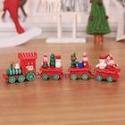 2020 popular lighted christmas thomas the train with smoke yard decoration plastic Christmas gift mini toy