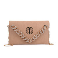 2019 New summer unique design PU ladies girls chain women crossbody shoulder bag