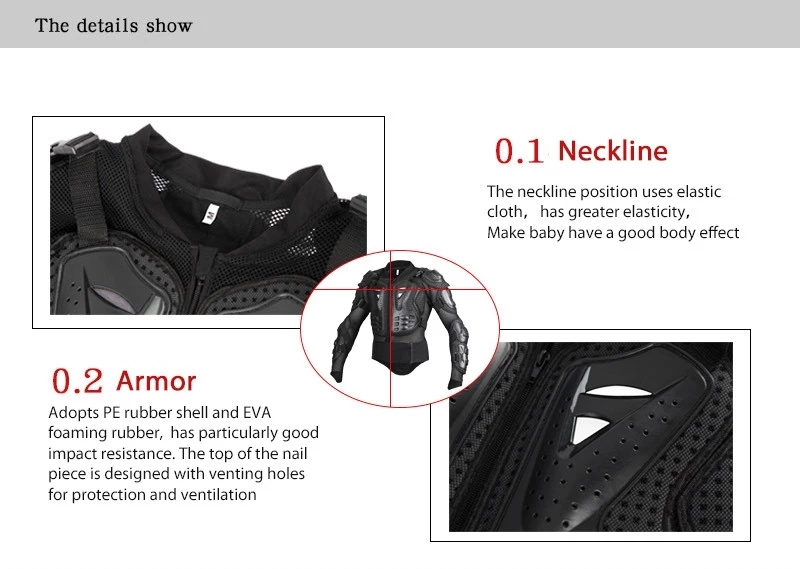 High Quality PE Breathable Ergonomics  Skiing Adventure Motorcycle Jacket