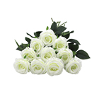 LUSIA Wedding Decor Artificial Silk Fabric Roses Flower for Home Office Hotel