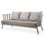High quality modern outdoor furniture set Aluminum garden hotel small cushion sofas sets