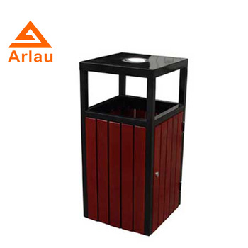 Arlau wood and metal recycle waste bin recycle bin dustbin