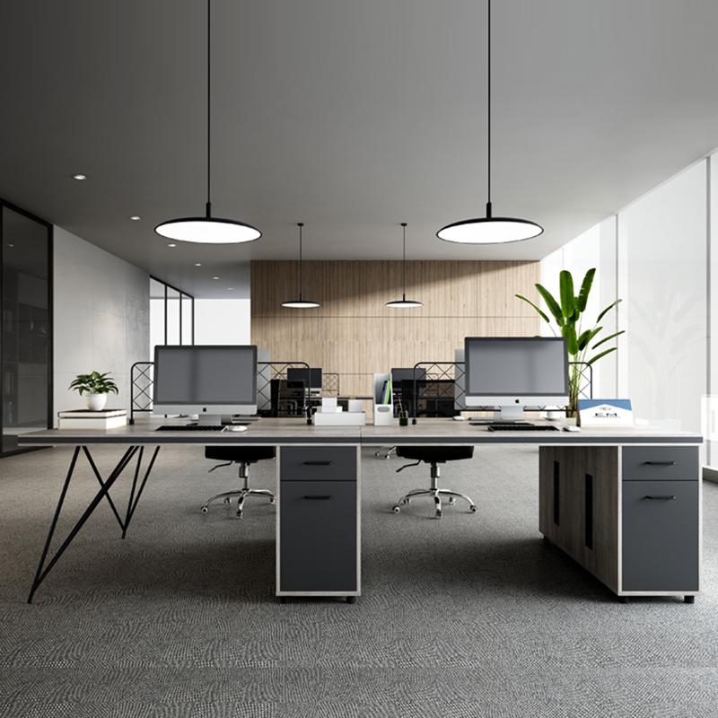 Исполнительный менеджер офисный стол E1 МДФ люкс колл Центр 4 местный рабочая станция