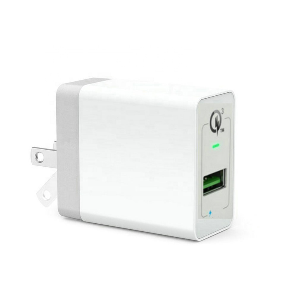 QC3.0 Cepat Charger US/EU/UK PLUG 18W 3Amp USB Dinding Charger