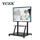 Educational equipment 98 inch touch screen android display interactive multi touch screen kiosk