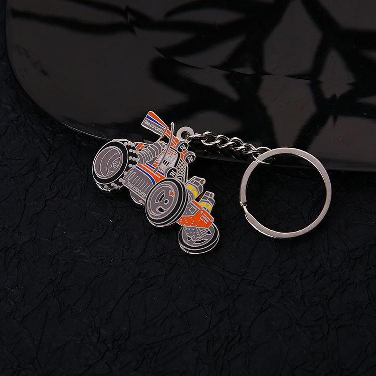 New product wholesale customized car logo metal silver shape keychain