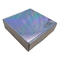 Micro Dots Holographic Gift Box Silver Laser Packaging Party Favor Box 20pcs/pack Free Shipping