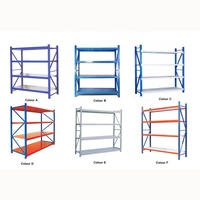 4 layers medium duty boltless warehouse steel storage rack