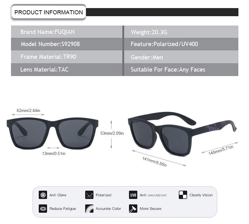 Fuqian custom flip up sunglasses Supply for men-9