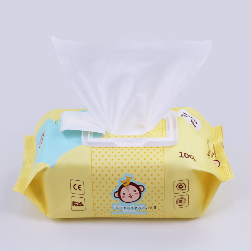 Organic Clean Sensitive Flushable Pure Water Reusable Flushable Baby Wipes