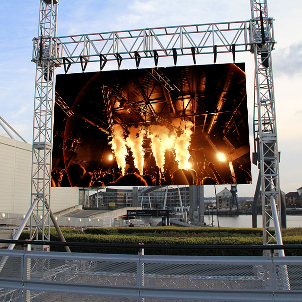 Hong wei die-casting aluminum cabinet P4 P5 P6 rental led display outdoor led video wall