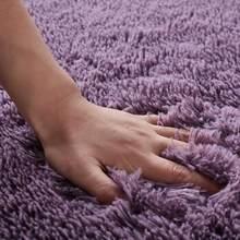 50 мытый Шелковый нескользящий ковер, журнальный столик для гостиной, одеяло, прикроватный коврик для спальни, коврики для йоги, сплошной цве...(Китай)