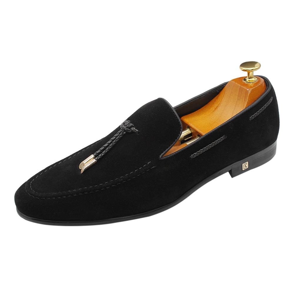 Novos estilos de vestido casual da moda design simples material de camurça genuína sapatas de vestido para homens