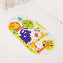 Антибактериальный Коврик для купания с рисунком из мультфильма прочный устойчивый к плесени 27X15 дюймов нескользящий детский коврик для ван...(Китай)