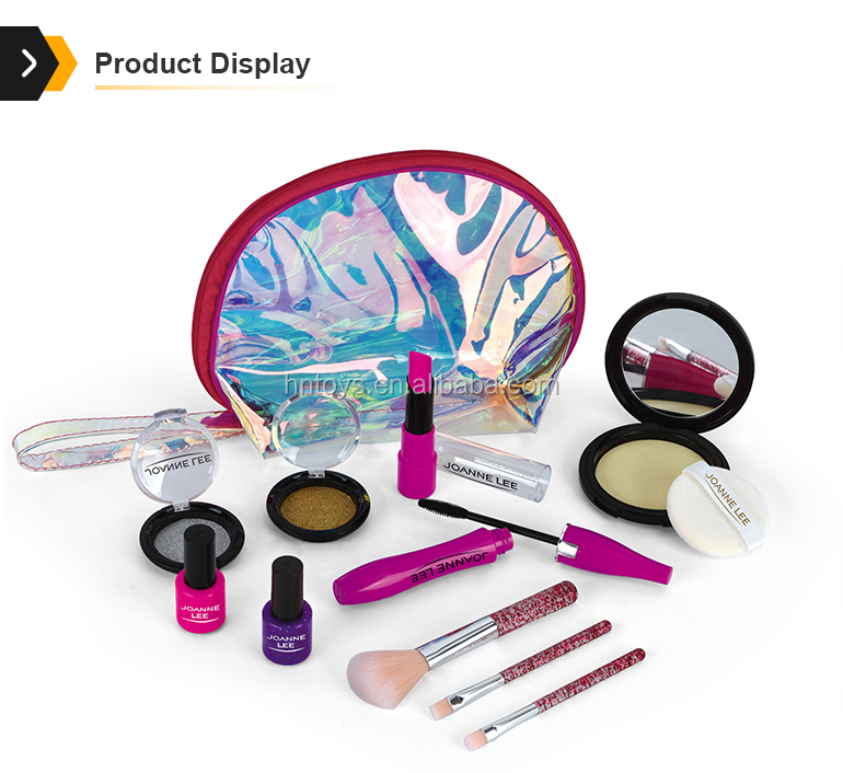 children play make up game kits kids cosmetics set girls toys makeup with mirror