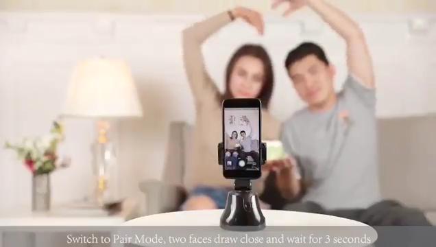 2020 फैशन स्वफ़ोटो स्टिक स्मार्ट शूटिंग फोन धारक 360 रोटेशन ऑटो चेहरा वस्तु ट्रैकिंग धारक के लिए iPhone