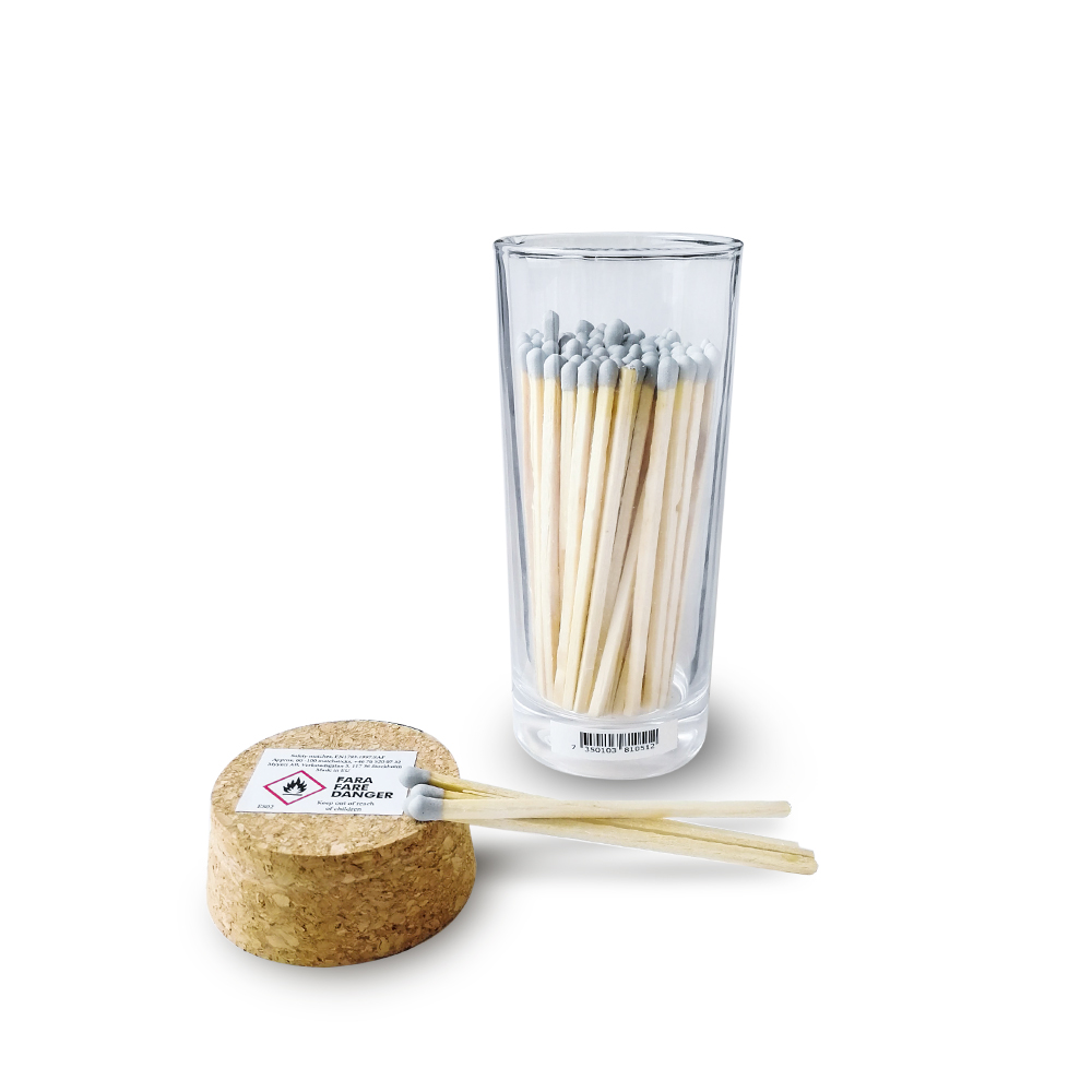 coloured matches jar custom candle matches in bottle