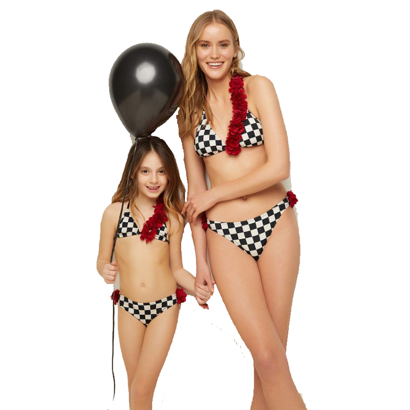 Family Matching Bikinis Swimsuits Mother daughter Clothes Outfits Children Kid Swimwear Parent Child Bathing Suit