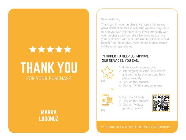 얻을 5 성급 리뷰 저렴한 좋은 품질 제품 삽입 아마존 감사 카드