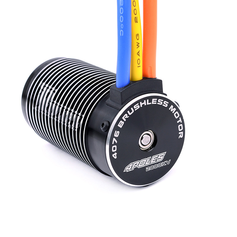 Rocket 1/8 scale 4076 sensorless brushless motor for RC Monster Truck and Truggy