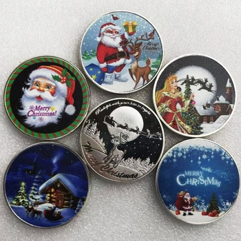 New Wishing Coin Merry Christmas Happy Holidays Santa Claus Coin
