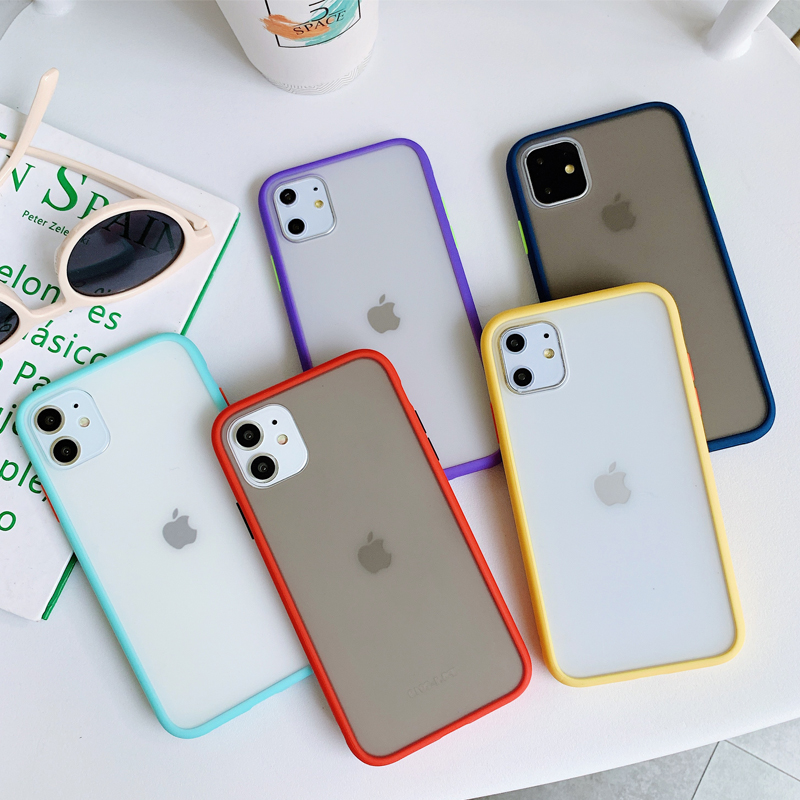 New Perfect Touch Feeling Skin Friendly Color Contrast Fashion Design Frosted Hard PC Phone Case For iPhone 11 XS <strong>Max</strong> XR X 7 8